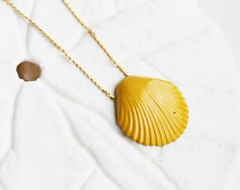 Yellow Seashell Necklace