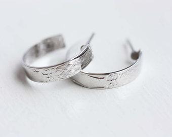 Silver Hoop Earrings, Small Silver Hoops