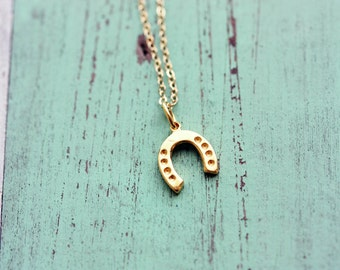 Lucky Horseshoe Necklace - Gold or Silver