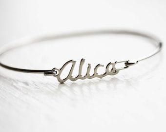 Alice Name Bracelet, Alice Bracelet, Name Bracelet