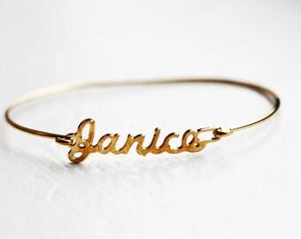 Vintage Name Bracelet - Janice