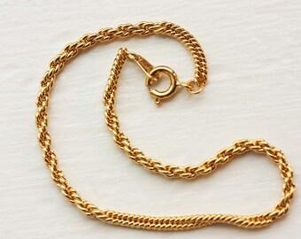 Chain Bracelet Gold, Gold Chain, Gold Bracelet, Textured Chain Bracelet, Rope Chain Bracelet, Small Chain, Small Gold Bracelet, Chain