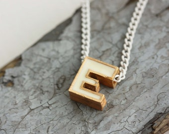 Vintage E Necklace