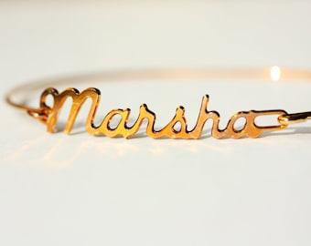 Vintage Name Bracelet - Marsha