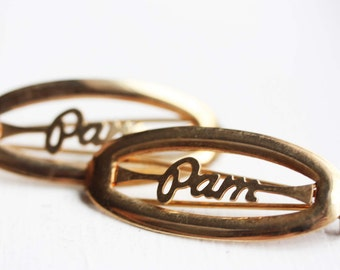 Vintage Hair Clips - Pam