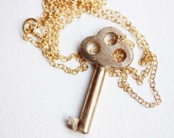 Key Necklace Gold, Key Necklace, Cast Key Necklace