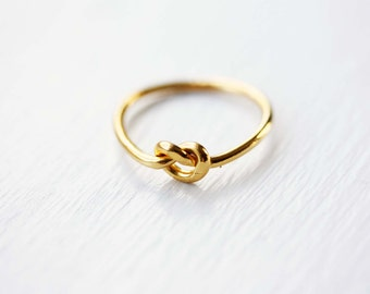 Knot Ring Gold, Knot Ring Silver, Delicate Knot Ring, Vintage Knot Ring, Love Knot Ring, Gold Love Knot Ring, Sizes 4,5,6, Silver or Gold