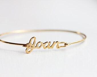 Vintage Name Bracelet - Joan