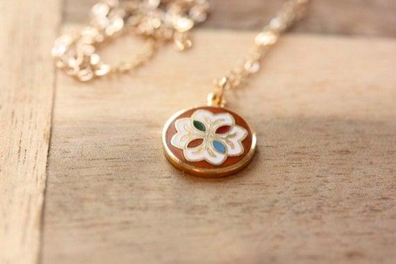 Dutch Circle Charm Necklace