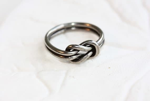 Sailor Knot Ring - Silver - Size 4,5,6,7