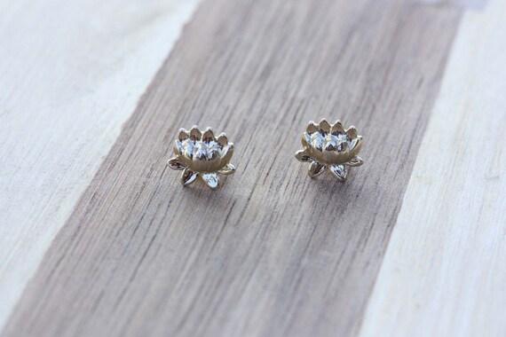 Lotus Flower Studs, Gold Lotus Studs, Silver Lotus Studs, Lotus Flower Stud Earrings, Gold Stud Earrings, Silver Studs, Lotus Flower Studs