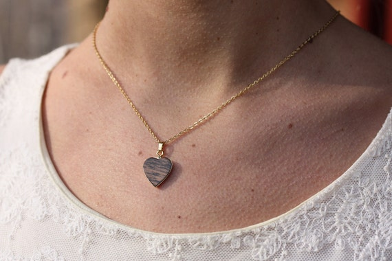 Wood Heart Necklace