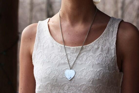 Sample Sale - Oxidized Silver Heart Necklace