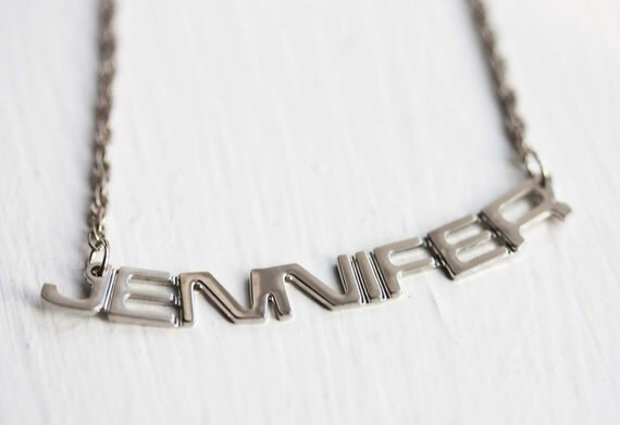 Vintage Name Necklace - Jennifer