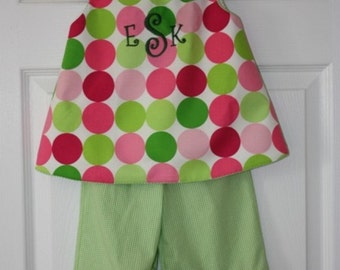 Disco Dot Dress Pants outfit 2 piece Great for Spring and Summer Happy Birthday