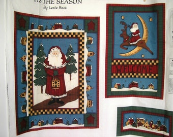 Tis The Season Wall Quilt Fabric Panel by Leslie Beck.