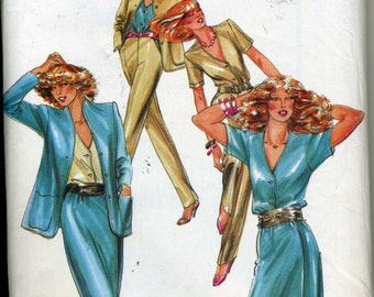 Vintage 70s UNCUT Butterick 6906 Misses Jacket, Wrap Skirt and Pants Sewing Pattern Sizes 12-16 Bust 34-38