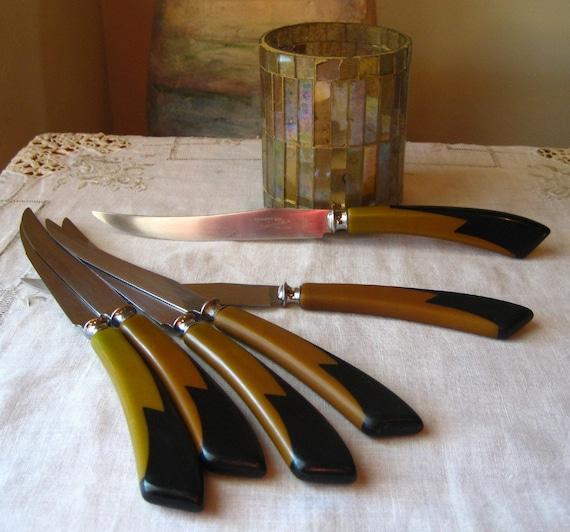 Vintage Bakelite Cutlery 1940 Deco Rare