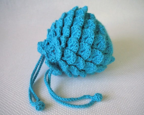 Blue Raspberry Evening Bag Crochet Pattern