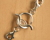1 Pair Detachable Curved Oval Toggle Clasps / Extender