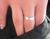 """Sterling Silver Ring Thin Band Item #100104 - """"Twisted Thin"""""""