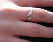 """Sterling Silver Ring Thin Band Ring Item #100104 - """"Twisted Thin"""""""