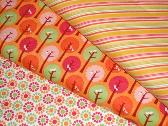 BUNDLE SALE - Flannel Summer Song Bundle- Baby Toddler Girl - My Mind's Eye Riley Blake Fabric -1 yard of each - 3 yards total - Almost Gone