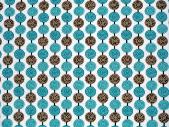 Flannel Alphabet Soup Beads Blue - Zoe Pearn My Mind's Eye - Riley Blake - Baby Toddler Gender Neutral - 1 yard
