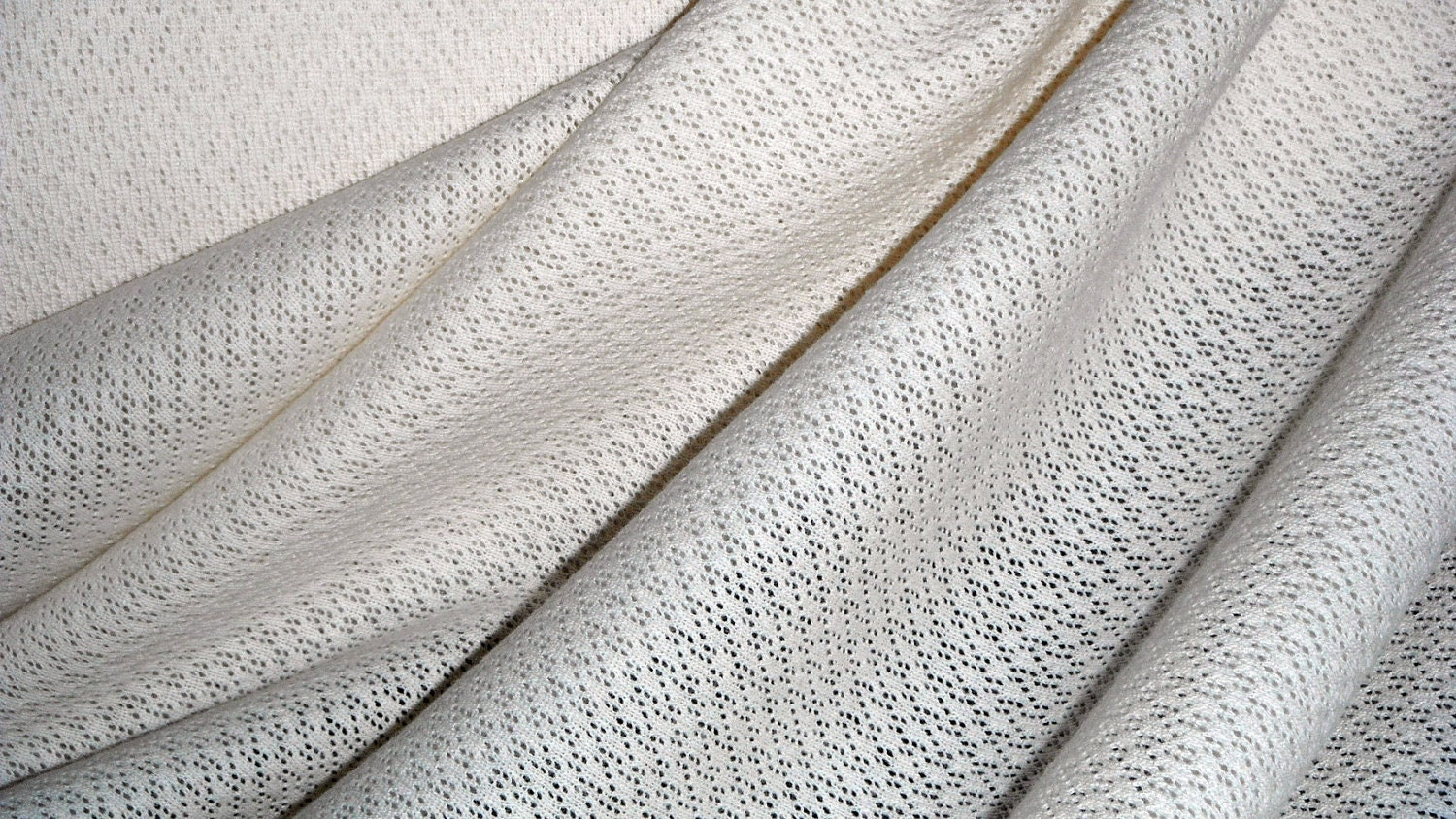 Organic cotton knit fabric cream textured swaddle for Unisex baby fabric