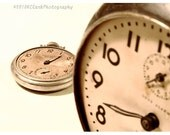 Time Passages 5x7 signed photo clock watch sepia vintage retro broken perspective taupe light brown shabby minimal