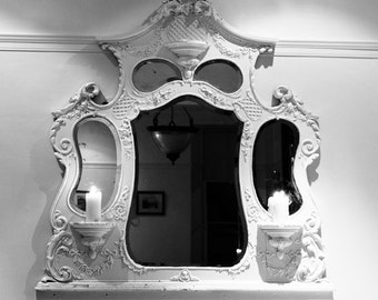 Photography Fairy Tale Mirror Mirror black and white dark fantasy shabby cottage chic snow white magical story telling decor