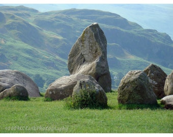 Castlerigg Stone Circle Landscape Photography England Outlander Romantic Print standing stones ceremonial celtic druid worship pagan
