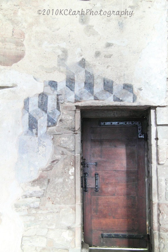 Doorway to the Past  8x12 signed photograph  Geometric design castle historical stone scotland home decor travel
