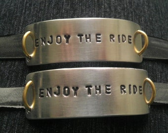 Custom Matching ID Bracelet - Recycled Unisex Gear for Couples