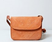 1980s Embossed Leather Purse