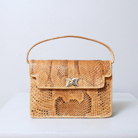 1950s Snakeskin Handbag