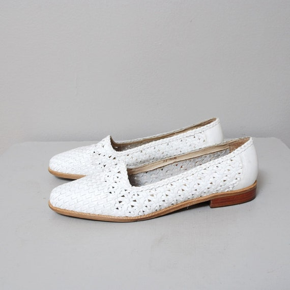 1980s Huaraches - Woven Leather Flats Size 7.5 - 8