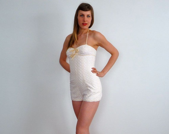 1950s swim suit      50s bathing suit      pin up swim suit