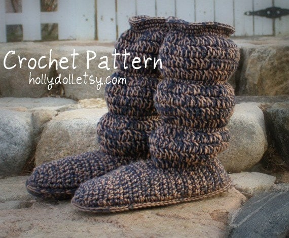 Crochet Patterns For Men Slippers Crochet Pattern Men 39 s Cozy