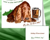 Irish Setter St. Patrick's Day cards