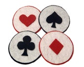 Playing Card Suits Coasters - Set of 4