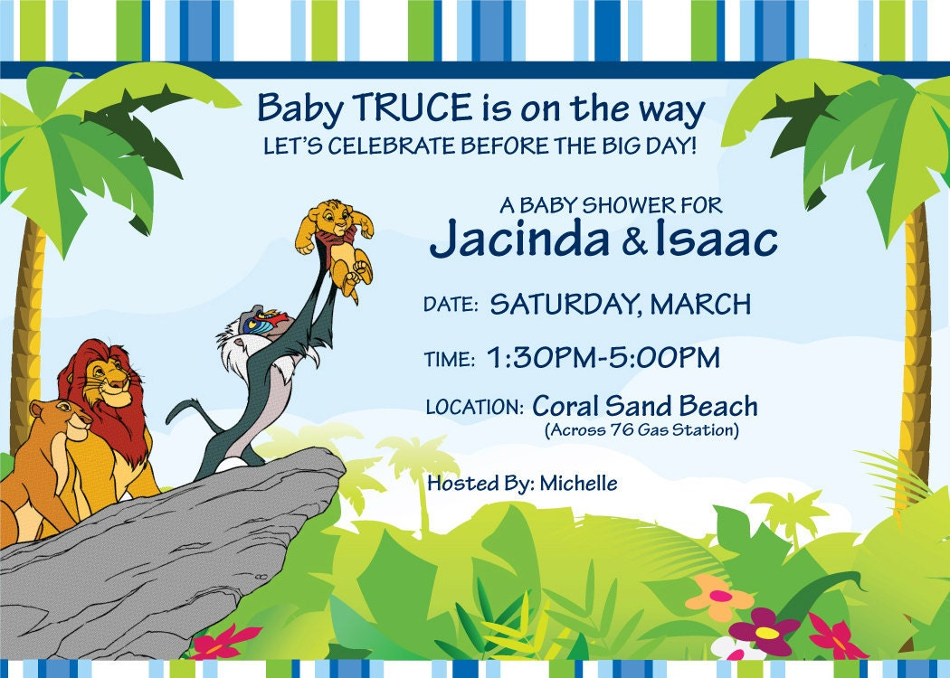Baby Shower Invitation Free Lion King Baby Shower