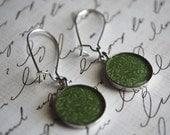 Colorful Green Earrings