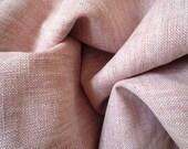 Pink Hight Quality 100 Percent Linen - WIDE WIDTH - Japanese Linen Fabric
