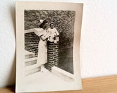 RESERVED for maryalyngarcia - 1 1940s Vintage Black and White Photograph of Nurse and Baby
