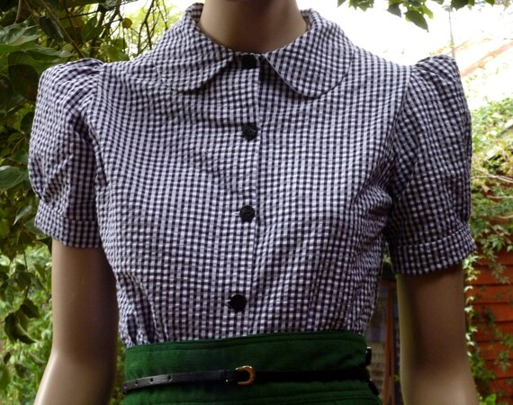 1930s / 1940s WWII Vintage Reproduction Blouse