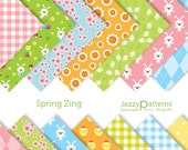 Spring Zing digital scrapbooking paper pack DP063 instant download