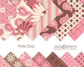 Pink Chic digital paper pack for scrapooking DP071 instant download