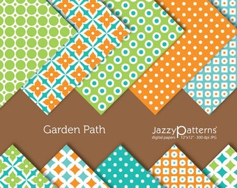 Garden Path digital paper pack DP053 instant download