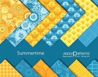 Summertime digital paper pack DP029 intant download